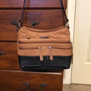 Stone & Co tan and black small purse!